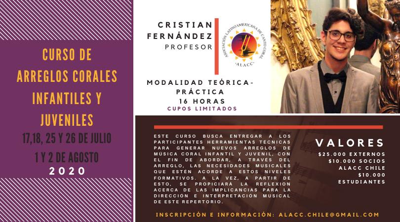 CURSO DE ARREGLOS CORALES INFANTILES Y JUVENILES