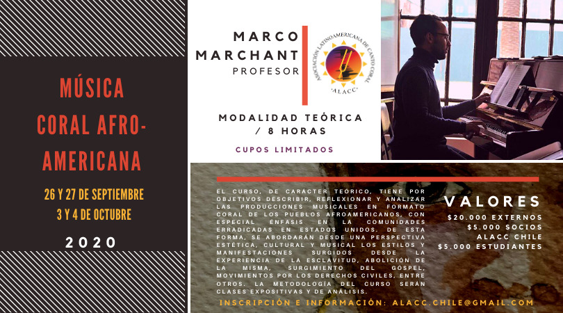 CURSO DE MÚSICA CORAL AFROAMERICANA