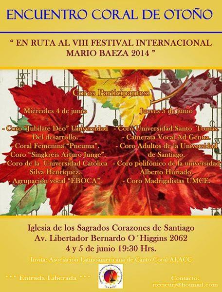 I Encuentro de Otoño 2014-Afiche (Iglesia Sagrados Corazónes)