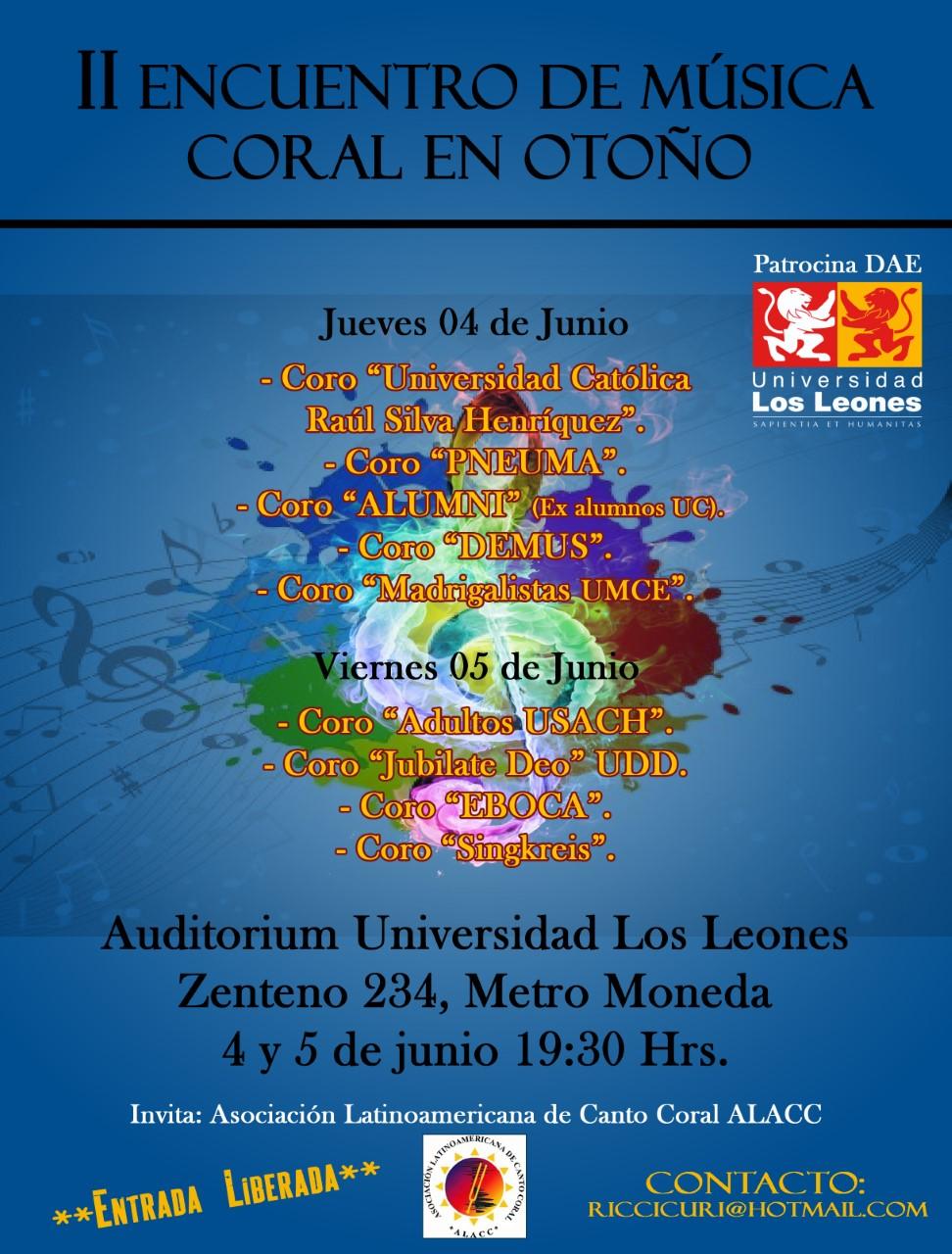 II Encuentro de otoño 2015-Afiche (U. Los Leones)