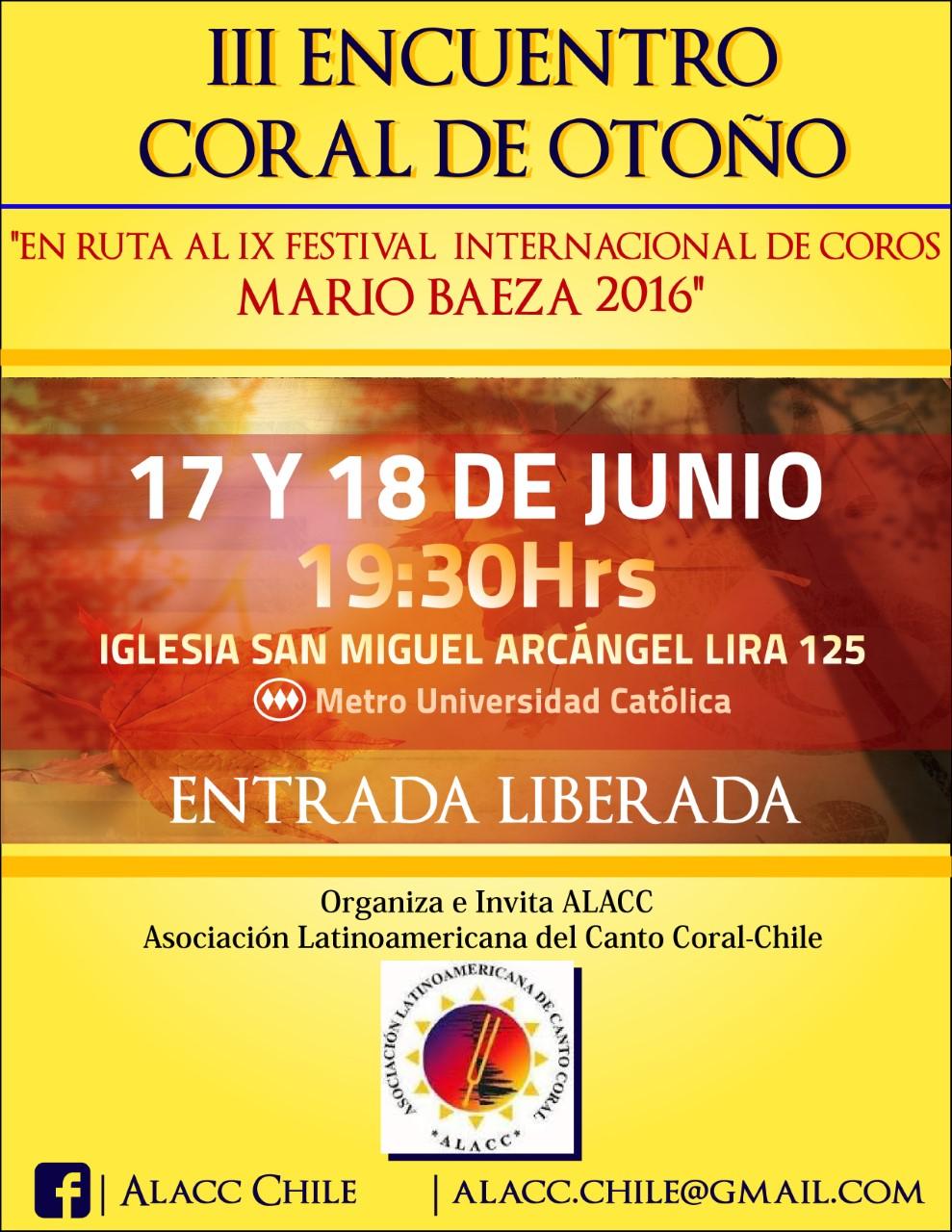 III Encuentro de Otoño 2016-Afiche (Iglesia Fach)