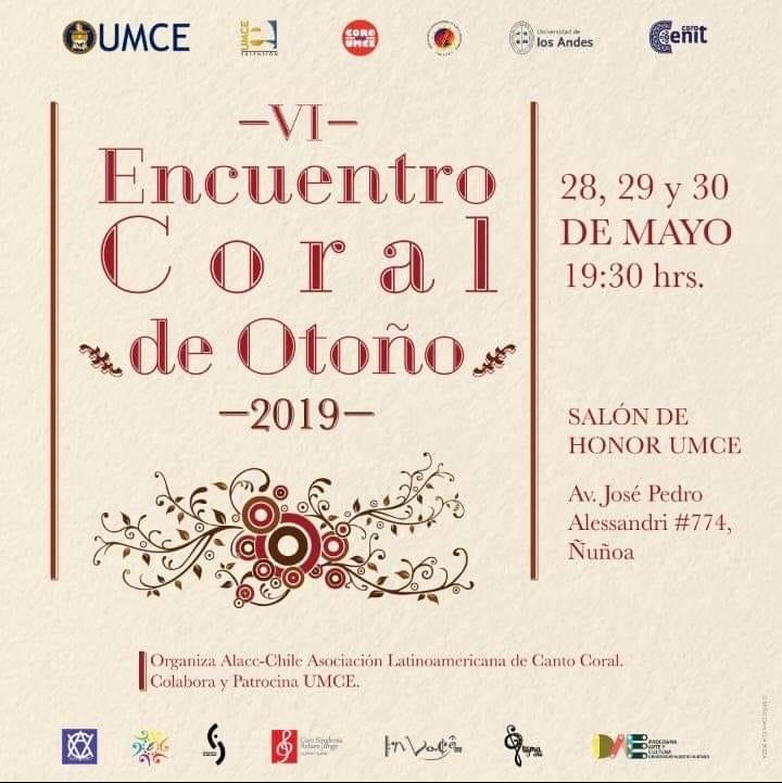 VI Encuentro de Otoño 2019-Afiche (UMCE)